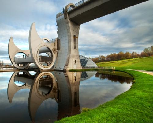Falkirk Wheel Reflection 300dpi